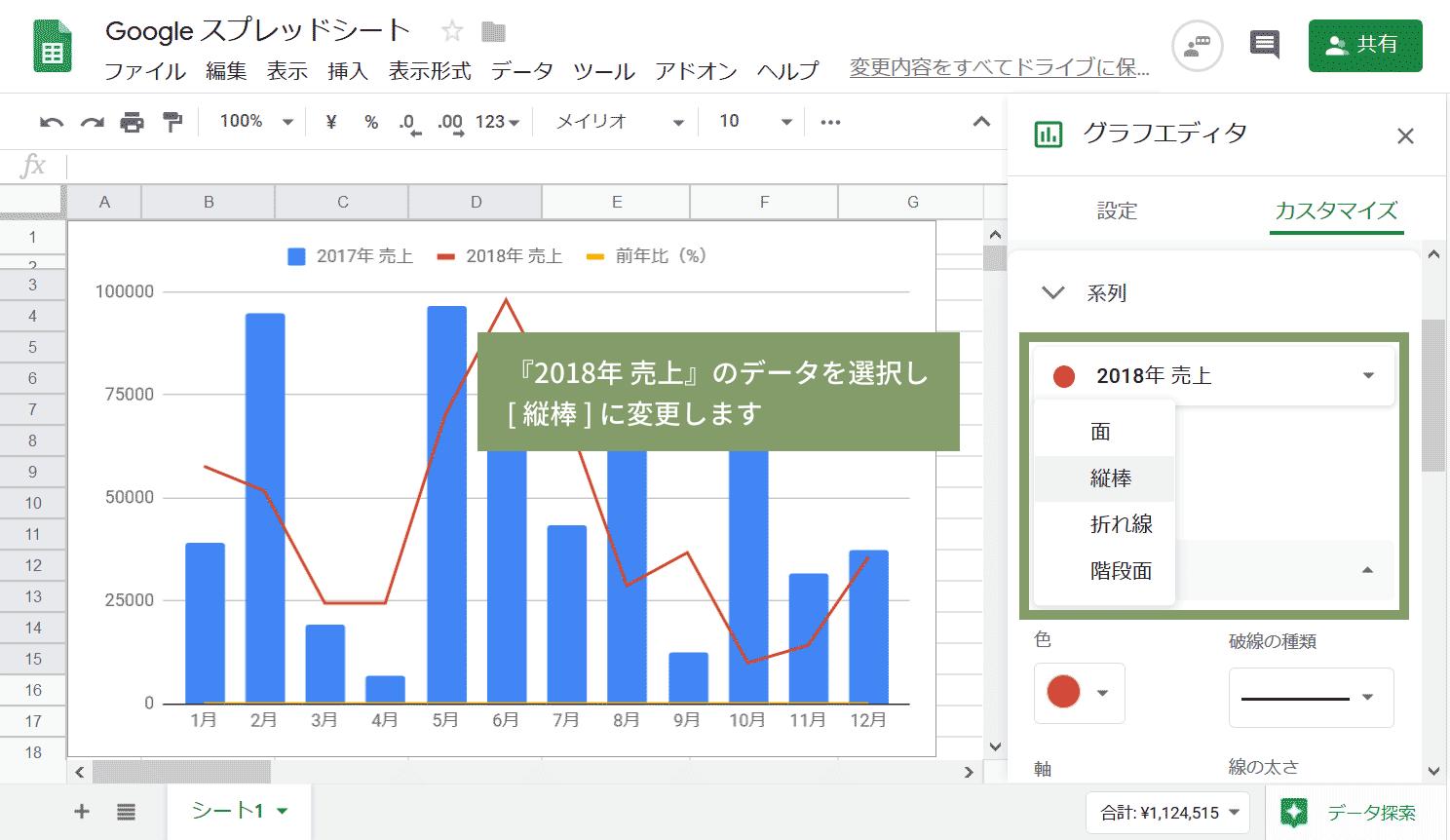 前年同月比の複合グラフ05