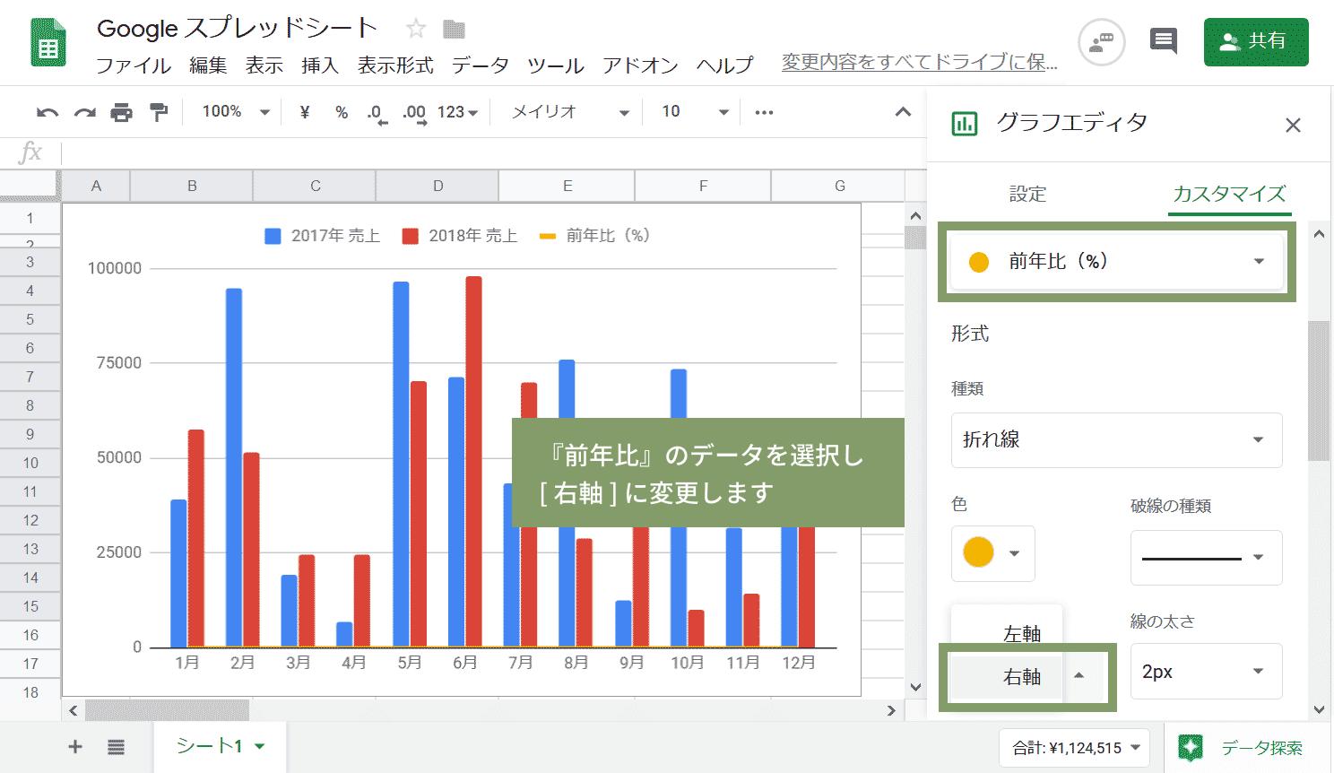 前年同月比の複合グラフ06