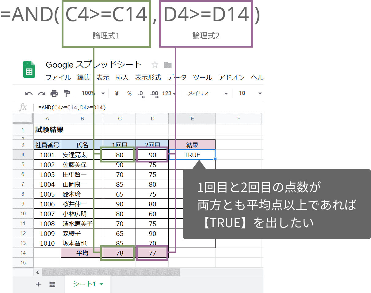 AND関数の使い方01