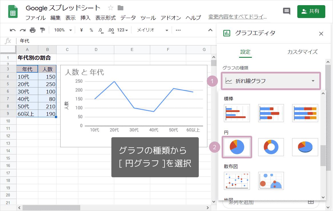 円グラフの作り方03