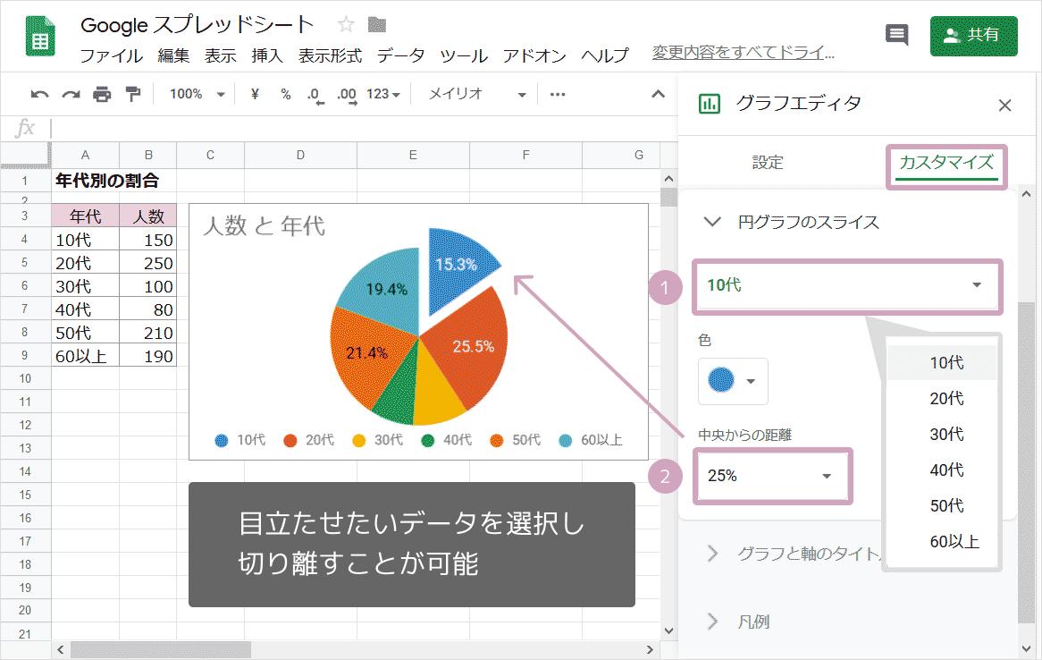 円グラフの作り方08