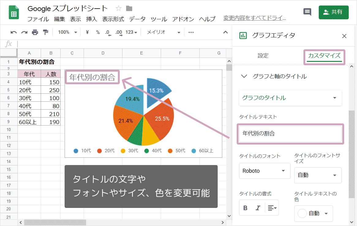 円グラフの作り方09