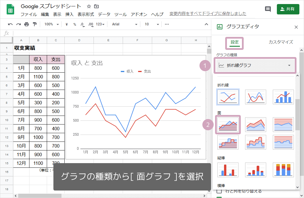 面グラフの作り方03