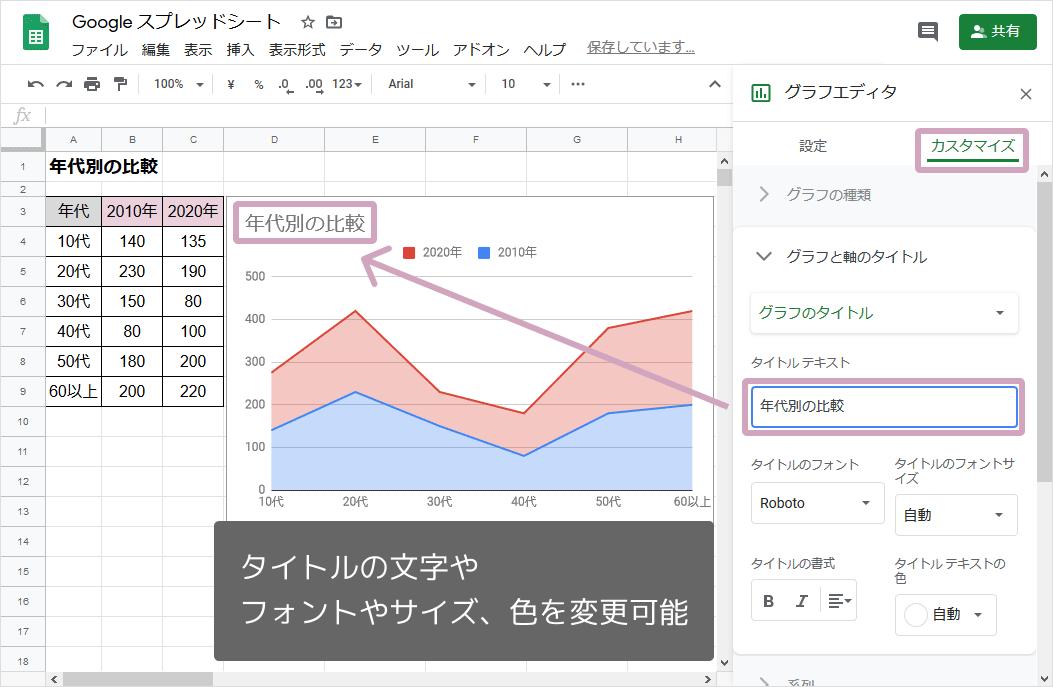 積み上げ面グラフ(タイトル追加)
