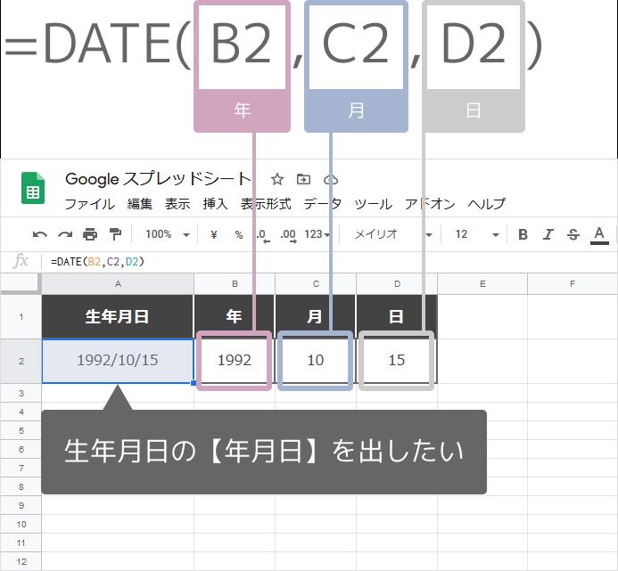 DATE関数の使い方