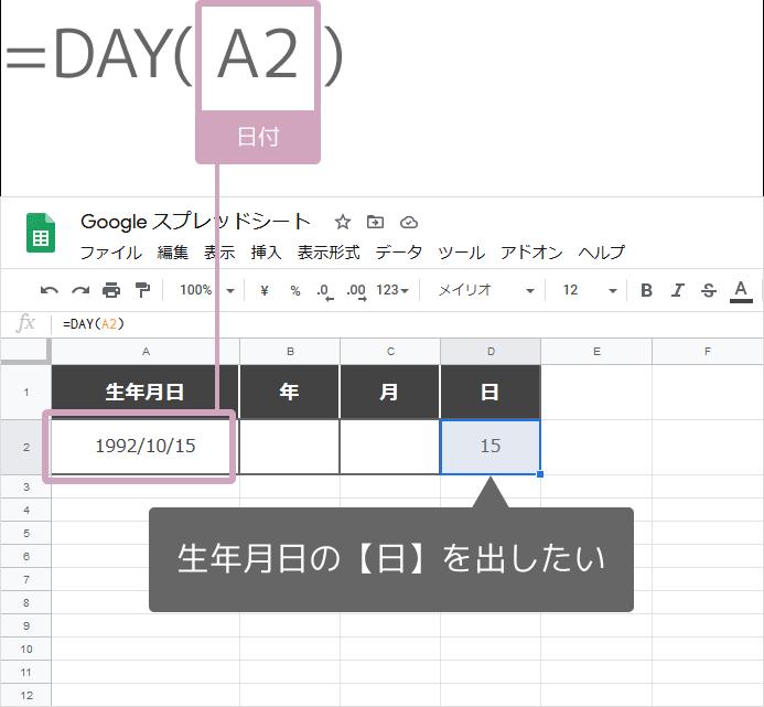 DAY関数の使い方