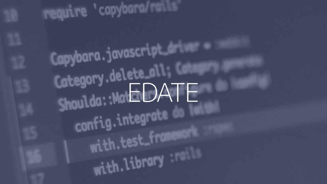 EDATE関数