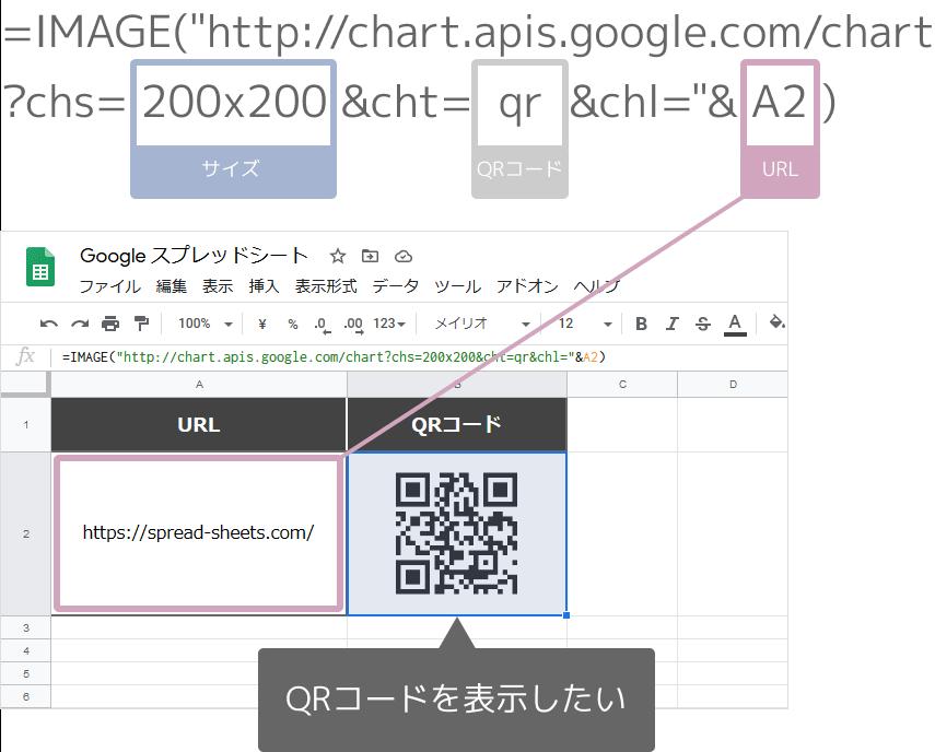 IMAGE関数でQRコードの作成