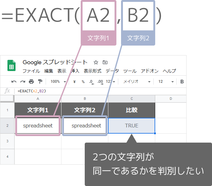 EXACT関数の使い方