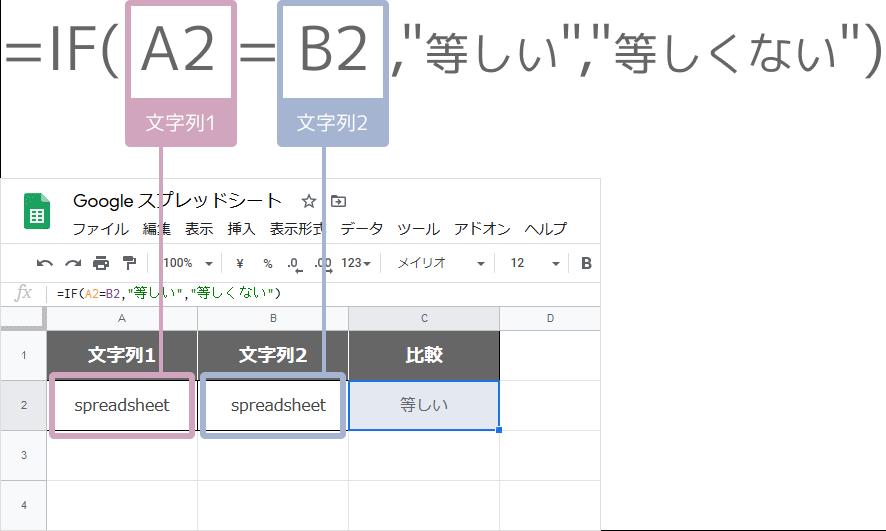 EXACT関数との違い(IF関数)