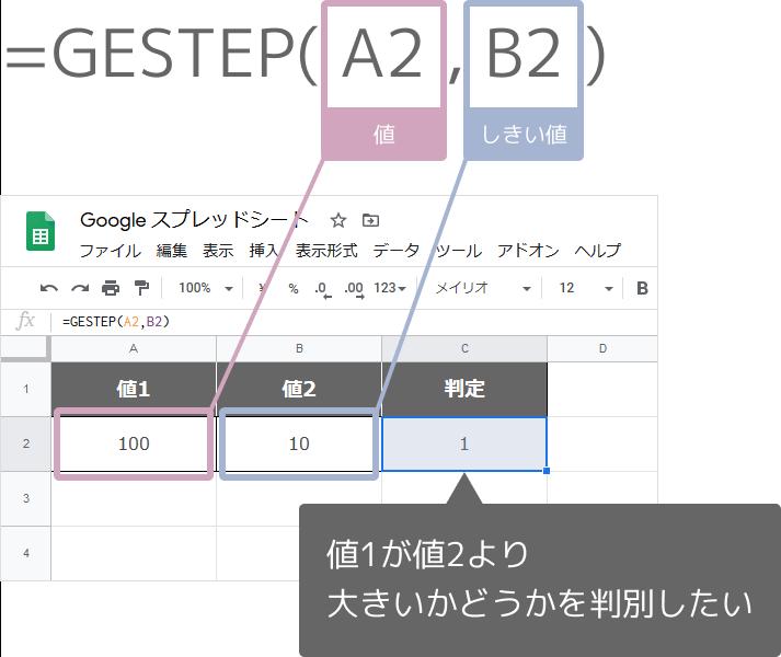 GESTEP関数の使い方