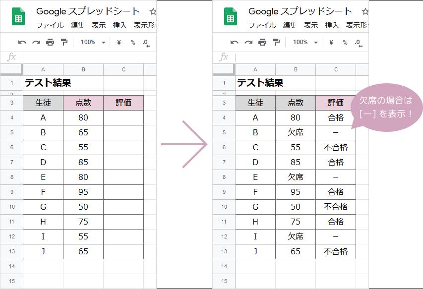 IF関数×IF関数の掛け合わせ(ネスト)