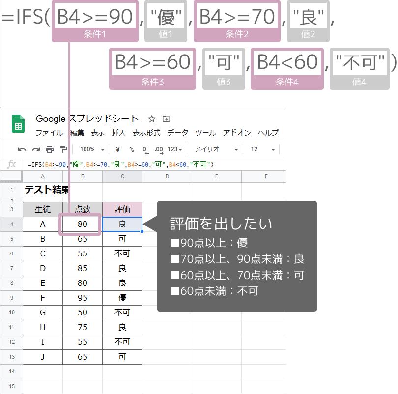IFS関数の使い方