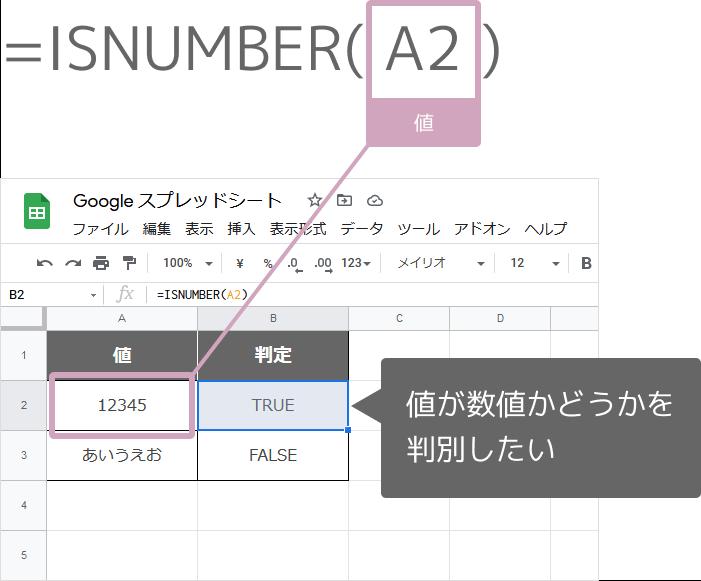 ISNUMBER関数の使い方