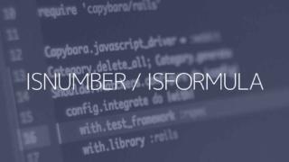 ISNUMBER/ISFORMULA関数